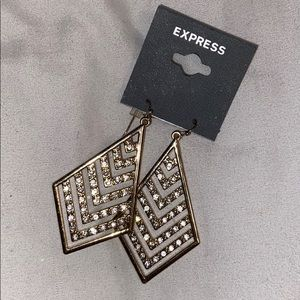 NWT Gold & Silver EXPRESS earrings